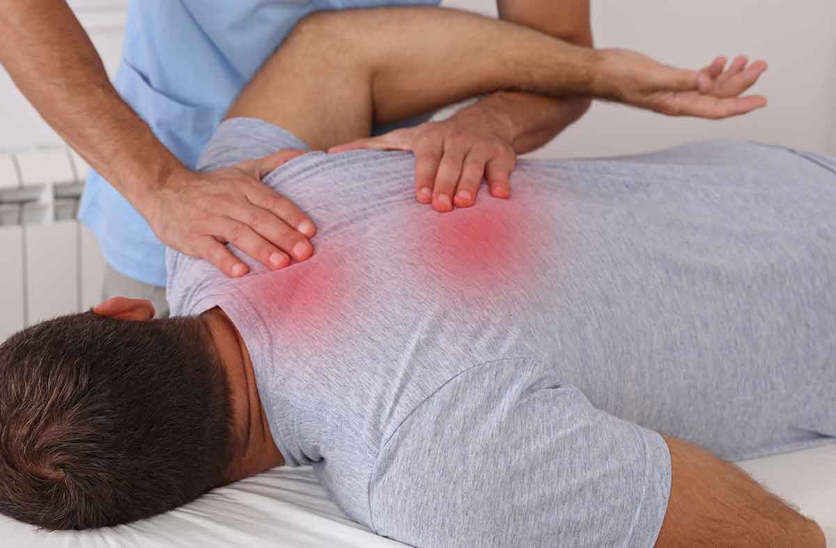 Die Triggerpunkt-Technik ist eine Behandlungsmethode aus der Osteopraktik. in der Orthopädische Praxis München